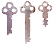 Three rusty keys Stock Image