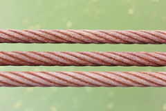 Three rusty wire rope sling Royalty Free Stock Photo