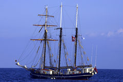 Three sail schooner Stock Images