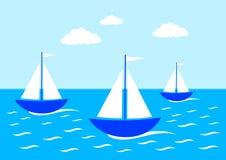 Three sailboats Stock Photography