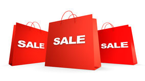 Three sale bags Royalty Free Stock Photos