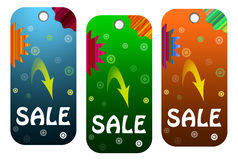 Three sale tag Stock Image