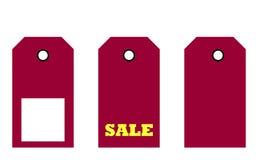 Three sale tags Stock Photos