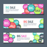 Three Sales Banners. For Web Or Print Royalty Free Stock Photo
