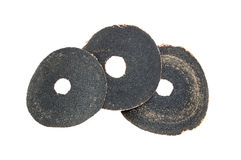 Three sandpaper disk Royalty Free Stock Image