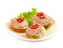 Three sandwiches Royalty Free Stock Images