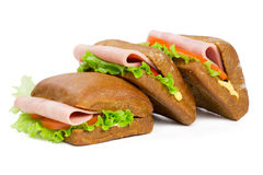 Three sandwiches Stock Photography