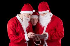 Three santa claus Stock Image
