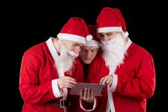 Three santa claus Royalty Free Stock Photos
