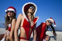 Three  Santa Clause Royalty Free Stock Image