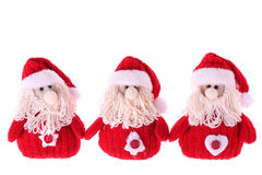 Three Santa Clauses Stock Image