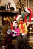 Three Santas Stock Photography