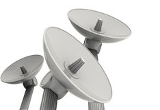 Three satellite dishes Stock Photography
