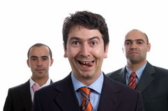 Three satisfied business men Royalty Free Stock Photography