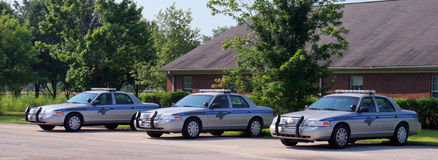 Three SC Highway Patrol vehicles Royalty Free Stock Images