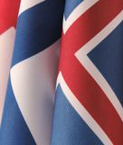Three Scandinavian flags Stock Photography