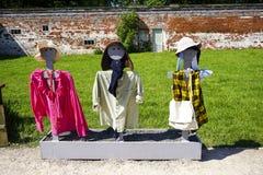 Three Scarecrows Stock Photo