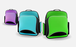 Three school bag Stock Photo