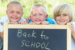 Three school children Stock Image