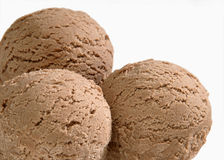 Three Scoops Of Chocolate Ice Cream Royalty Free Stock Images
