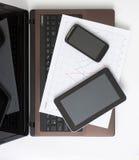 Three screens Stock Image