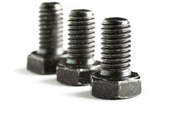 Three Screws Royalty Free Stock Photo