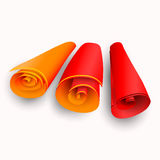 Three scrolls with color stripes Royalty Free Stock Photos
