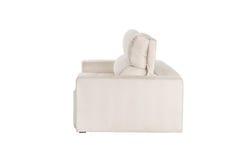 Three seats cozy beige sofa Royalty Free Stock Images