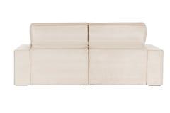 Three seats cozy beige sofa Royalty Free Stock Photos