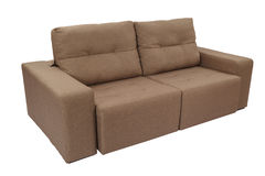 Three seats cozy brown Stock Images