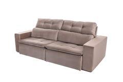 Three seats cozy brown sofa Royalty Free Stock Photo