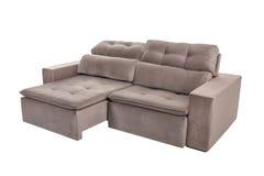 Three seats cozy brown sofa Royalty Free Stock Image