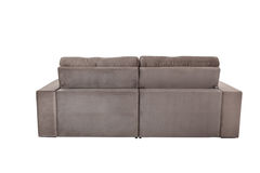 Three seats cozy brown sofa Royalty Free Stock Photography
