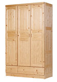 Three-section wardrobe, with clipping path Royalty Free Stock Images