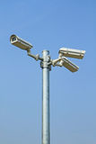 Three security cameras Royalty Free Stock Photography