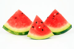 Three segments of a water-melon Royalty Free Stock Photo