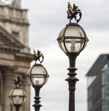 Three in a series of The old City of London Street Lights near t Royalty Free Stock Images