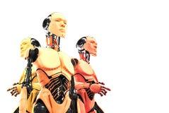 Three serious robots Royalty Free Stock Photos