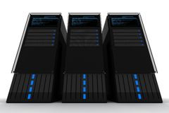 Three Servers Stock Photography