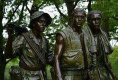 Three Servicemen Statue Vietnam Veterans Memorial Stock Photos