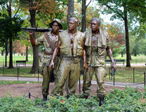 The Three Servicemen. Statue at the Vietnam War Memorial in Washington D.C. USA Stock Photography