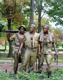 The Three Servicemen. Statue at the Vietnam War Memorial in Washington D.C. USA Stock Images
