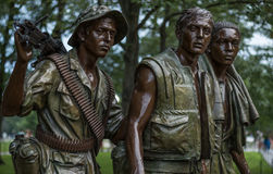 Three Servicemen Vietnam memorial statue, Washington DC Royalty Free Stock Photography