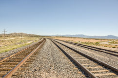 Three Sets of Curving Railroad Tracks Royalty Free Stock Photography