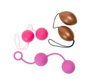 Three sex toys - woman's vaginal balls Stock Image