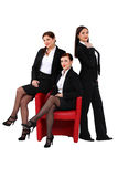Three sexy businesswomen Royalty Free Stock Photo