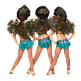 Three carnival dancers back Stock Image