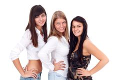 Three sexy girls Royalty Free Stock Image