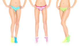 Three sexy girls in panties Royalty Free Stock Photography