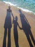 Three shadow sand beach stock image